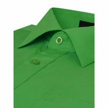Omega Italy Men Green Classic Fit Standard Cuff Solid Dress Shirt - 3XL image 3