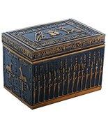 Egyptian Themed Hieroglyphs Deities and Gods Black and Gold Jewelry Box - $29.99