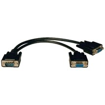 Tripp Lite P516-001-HR VGA Monitor Y-Splitter Cable, 1ft (for 1600 x 120... - $27.37