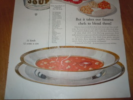 Vintage Campbell's Ox Tail Soup Print Magazine Advertisement 1925 image 3