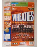 MT WHEATIES Cereal Box 2004 18oz DETROIT PISTONS NBA Champions 2003-04 [... - $13.55