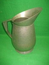 """Vintage Chase Stainless Steel Metal Water Tea Pitcher with Handle 9.5"""" Tall - $23.33"""
