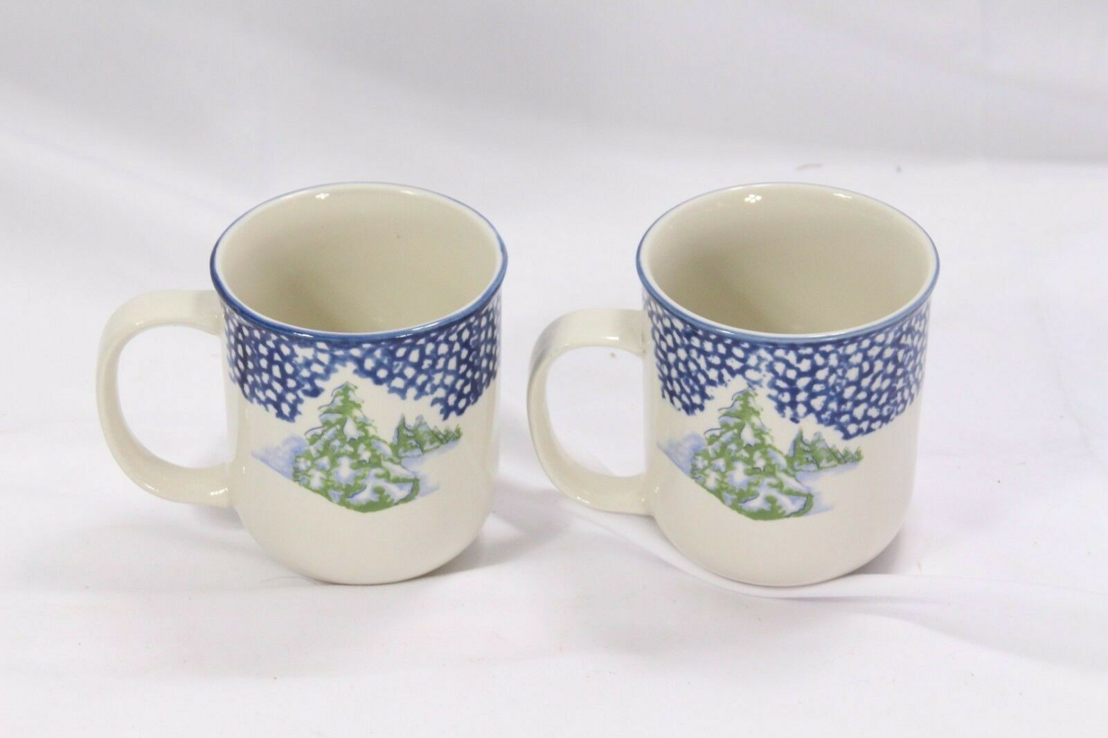 Thomson Pottery Snowman Xmas Mugs Lot of 9 image 4