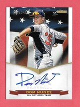 2012 Dom Nunez Panini USA Baseball Rookie Auto 083/349 - Colorado Rockies - $1.43