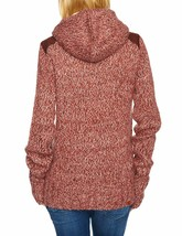 Bench Wolfster Red Knit Zip Up Sweater Hooded Jacket Hoodie image 2