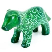 Vaneal Group Hand Carved Kisii Soapstone Green Standing Puppy Dog Figurine Kenya image 2