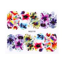 HS Store - 1Pcs WG-2118 Flower Designs Nail Sticker Water Transfer DIY - $2.23