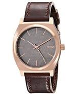 NWT Nixon A0452001 Time Teller Rose Gold/Gunmetal/Brown Unisex Watch - $98.95