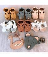 EnkeliBB Animal Leather Baby Walker Shoes Genuine Leather New Born baby ... - $39.99