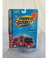 Road Champs - Texaco Ford F100 Pickup Red Truck Loaded Motor Oil Barrels  - $8.90