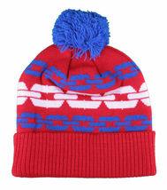 Crooks & Castles Royal Blue Orange Mens Chainlink Pom Beanie Winter Ski Hat image 3