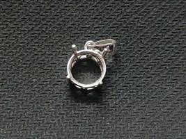 925 Argento Sterling Semi Montatura Ciondolo 10 MM Rotondo Pietra Misura... - $20.26