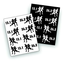 S MARATHON decal 13.1 and 26.2  olympic race male and female COUPLE RUNNER - $9.93