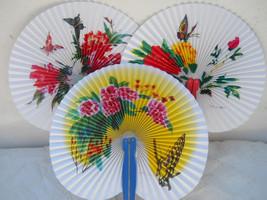 Butterflies 3 PC Oriental Folding Traveling Hand FAN Set  ,Fan174 - $6.50