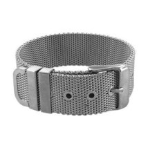 Inspired Silver The Mesh Buckle Gunmetal Finish Adjustable Bracelet with... - $593,31 MXN