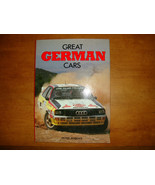 """""""GREAT GERMAN CARS"""" BY PETER ROBERTS  PHOTO BOOK  1985  96 PAGES OF PHOTOS  LN - $20.00"""
