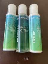 White Citrus Shampoo Conditioner And Lotion 1 Oz Each - $8.99