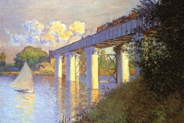 Railroad Bridge, Argenteuil by Claude Monet - Art Print - $19.99+
