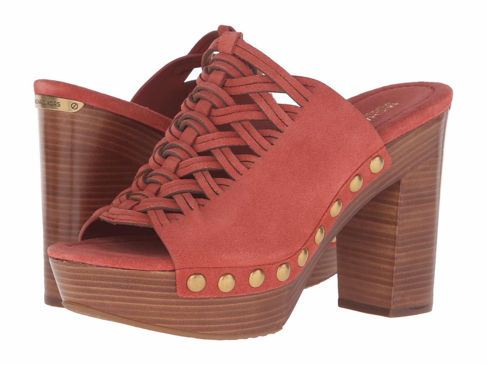 New Michael Kors Women Westley Studs Platform Mules Variety Color&Sizes