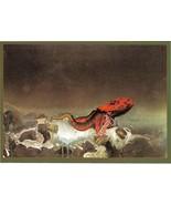 Roger Dean Views Red Octopus Mini Print Postcard RDA8 Dragon's World UK - $5.50