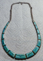 Free Ship Vintage GL Miller Studio Inlaid Turquoise Opal Necklace Gorgeous - $900.00