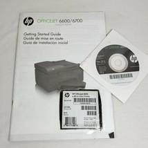 HP Officejet 6600 Manual & Software CD - $18.04