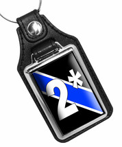 Police Canine 2* Two Ass To Risk Thin Blue Line Faux Leather Key Chain K... - $10.84