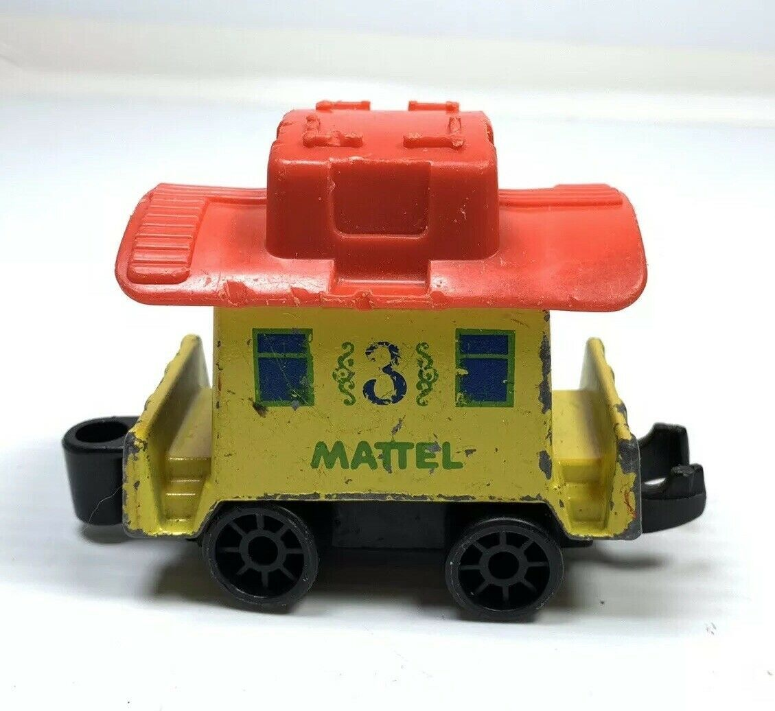 Primary image for 1980 Mattel First Wheels Yellow #3 Train Car