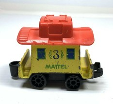 1980 Mattel First Wheels Yellow #3 Train Car - $3.99