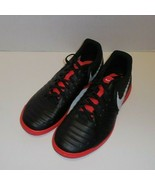 Nike Tiempo Legend 7 Club Indoor Soccer Shoes Mens 7 Black Red New AH7245-006 - $34.64