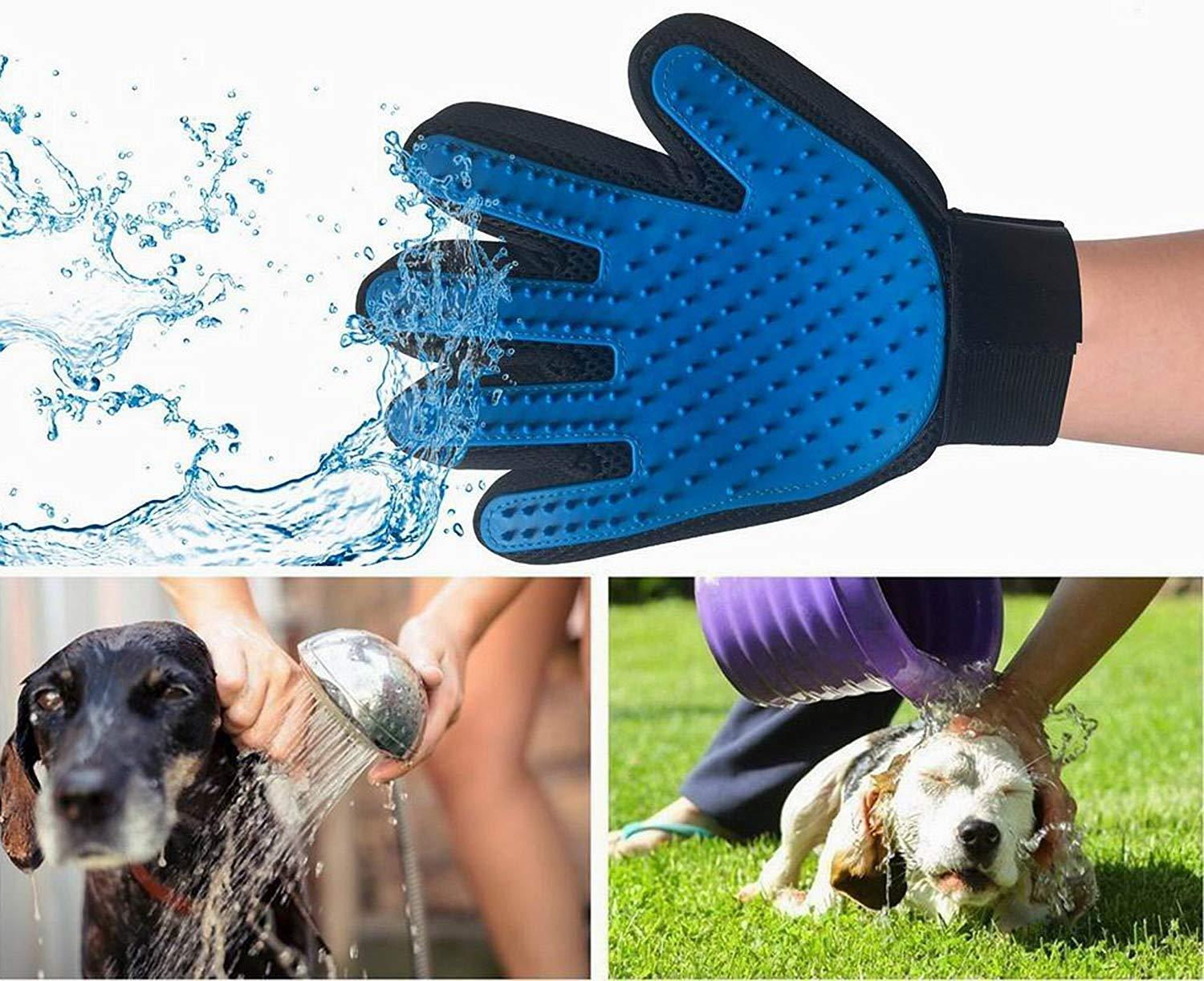 Pair of Original Pet Grooming Glove Gentle Deshedding Brush Glove Dogs,Cats, etc image 4