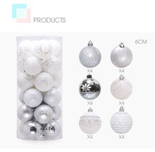 6Cm Silver White Theme Pack Christmas Bauble Balls Christmas Tree Hangin... - $14.99+