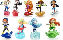 DC Super Hero Girls Mini Figures Lot Of 9 Different Characters  - $49.97