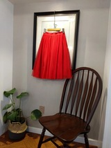 RED Full Tulle Skirts Women Tulle Maxi Skirt Red Wedding Bridesmaid Full Skirts image 12