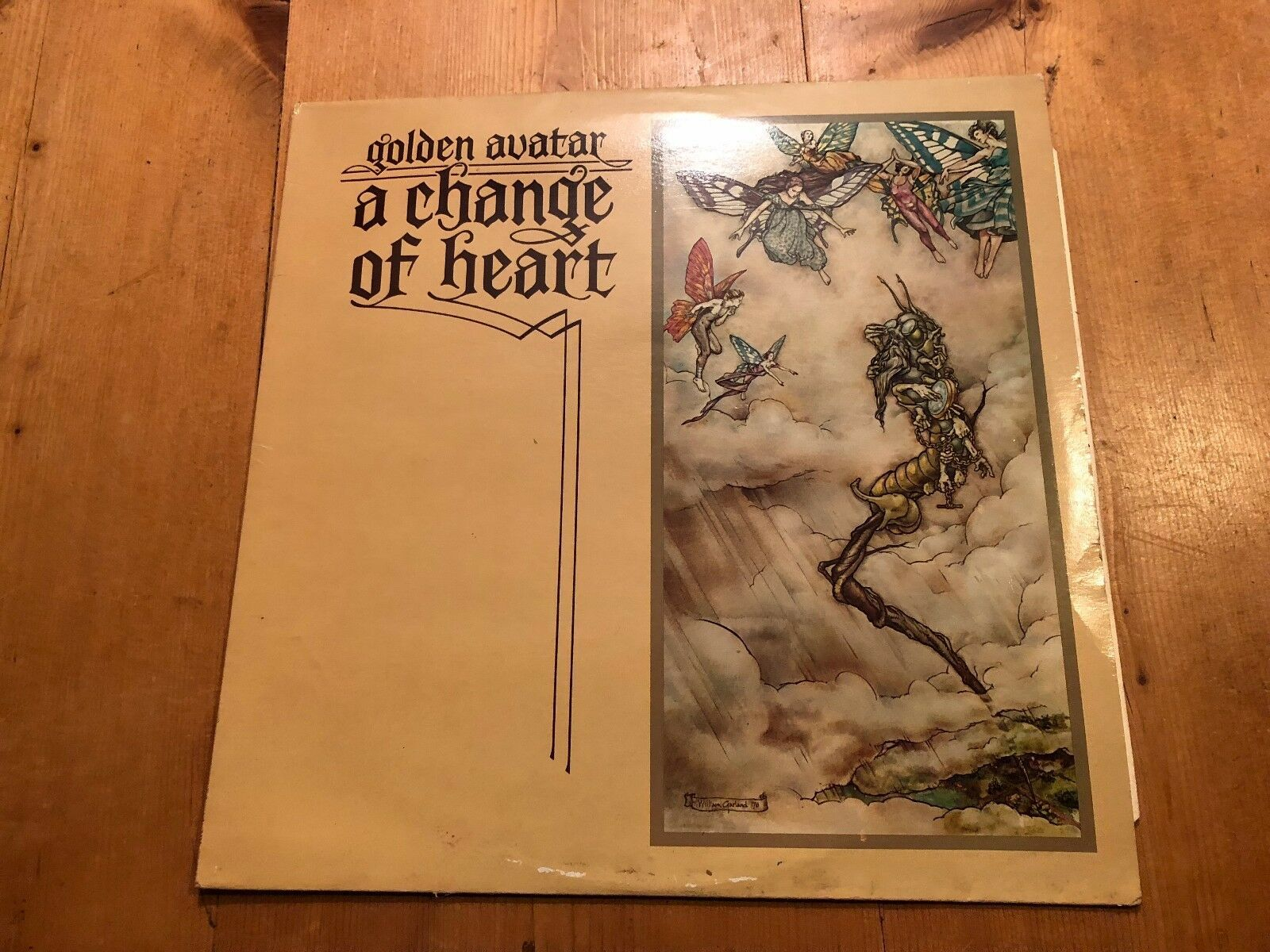 "1976 Golden Avatar a Change Of Heart"" Vinyl LP Album Record"