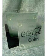 Coca-Cola Coke 5 Piece Frosted Coaster Set with Holder  Free Shipping!bo... - $29.70