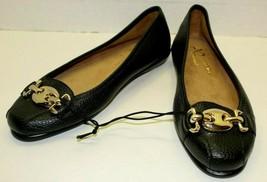 A2 Aerosoles Stitch N Turn Womens Black Slip On Flats Comfort Shoes Size 7M  - $44.55