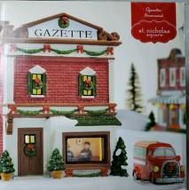 St. Nicholas Square 2015 Gazette Illuminated Lighted Building Christmas Village - $55.17