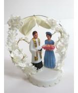 Vintage Cake Topper Baby Christening Baptism Table Decor Girl Godmother ... - $15.00