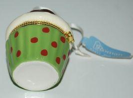 Roman Inc 35900 Cupcake Trinket Box Ornament Seasons Greetings Gold image 3