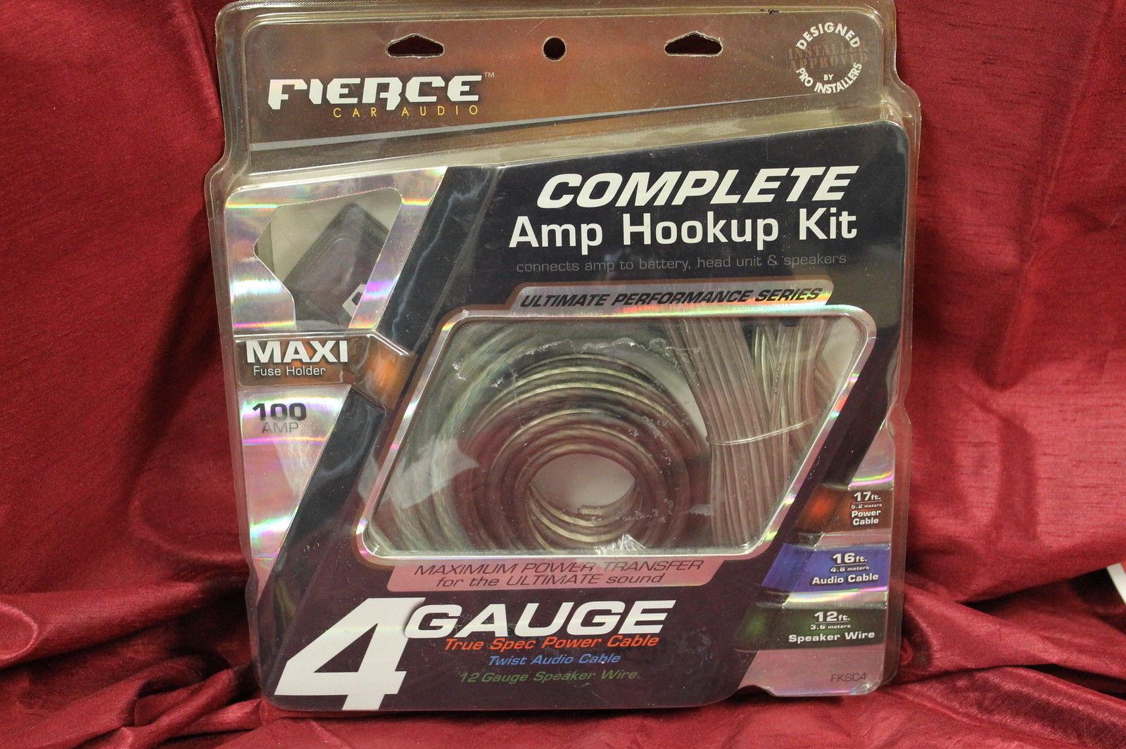 Fierce Fksc4 4 Gauge Amp Install Kit 4awg And 50 Similar Items Bullz Audio 8 Car Amplifier Installation Power Wiring S L1600