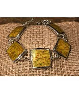 Recycled Porcelain Jewelry, Vintage Collection, Yellow w/ Multi-Colored ... - $35.64