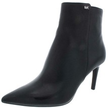 Michael Kors Dorothy Black Leather Pointed Toe Ankle Heel Boots Bootie S... - £80.28 GBP