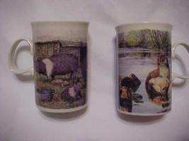 Dunoon Stoneware Mugs (2) - Pennine Pigs Wildlife Designs - Made in Scot... - $14.95