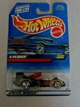 Hot Wheels X-Ploder Toy Car 1998 Diecast Collector #1091 Flames Mattel Open Box - $5.40