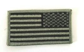 USA US AMERICAN FLAG REVERSE RIGHT ARMY SHOULDER DARK  - $9.49