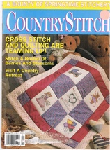 Country Stitch Monthly Journal of Cross Stitch Designs Back Issue March ... - $6.00