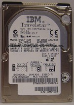 "IBM DJSA-230 30GB 12.5MM 2.5"" IDE Drive Tested Good Free USA Shipping - $24.95"