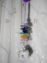 Beaded Crystal Sun Catcher, Handmade, One Of A Kind, Chunky, Colorful - $35.00
