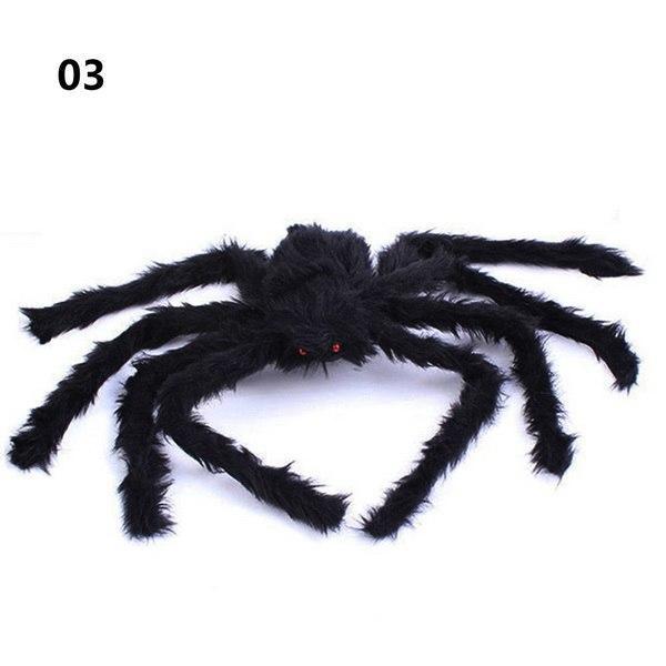 1PCs Fake Spider Prank Gift New Halloween Horrible Big Black Furry Spider Decor image 9